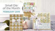 Spellbinders February 2018 Small Die of the Month