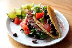 Vegan Black Bean Tacos by Aylin @ GlowKitchen