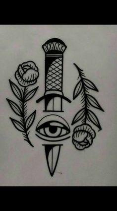 tattoo design available - traditional tattoo drawings Kritzelei Tattoo, Tatto Old, Wrist Tattoos, Body Art Tattoos, Sleeve Tattoos, Tattoo Neck, Band Tattoo, Sword Tattoo, Snake Tattoo
