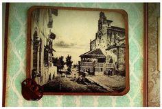 Scrapeando Aviles I - Iglesia de los Padres Franciscanos, edificio más antiguo que se conserva en Avilés. #albumdefotos #albumdeviaje #scrap