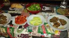 Potro, tomate feo de tudela, cogollos de tudela con aguacate y pepino