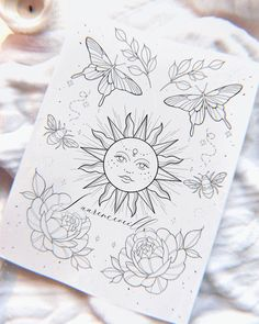 Coloring Pages To Print, Printable Coloring Pages, Body Art Tattoos, Tattoo Drawings, Printable Tattoos, Fleur Design, Tattoo Project, Tattoo Flash Art, Desenho Tattoo