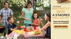 Hershey's 2014 Summer S'Mores Grilling Instant-Win Game (1,112 Winners!) on http://www.icravefreebies.com/