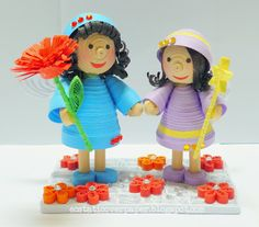 mom and child 3d quilling