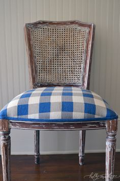 old chair~new upholstery:)