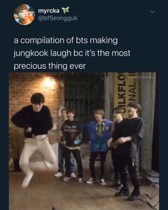 Jungkook is a baby and when a baby laughs its the cutest thing ever Bts Funny Videos, Bts Memes Hilarious, Bts Jungkook, Btob, Vixx, K Pop, Bts Playlist, Bts Tweet, Bts Video