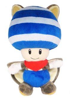Amazon.com: Super Mario Plush Series Plush Doll: 8-Inch Squirrel / Musasabi Blue Toad / Kinopio: Toys & Games