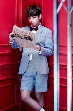 V looks fly in a suit on BTS's rapidly filling 'Sick' elevator | allkpop.com