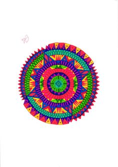 Pen & Ink drawing of a custom mandala by SomeCatchyName on Etsy