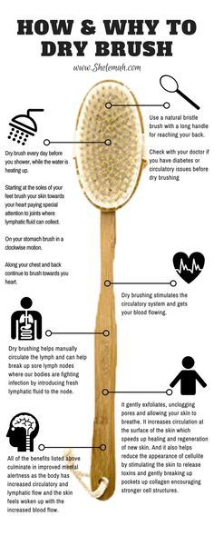 How and why to dry brush: learn all about how this simple health practice can improve your skin, lymphatic health, mental alertness, and more! #drybrushing #skinhealth via @shelemah