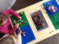 Such a great DIY lego table! It even has a built in storage bin for the lego.