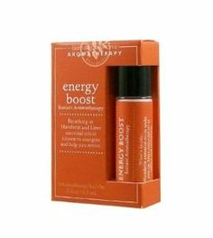 Bath & Body Works Instant Aromatherapy Energy Boost Roll-On by Bath & Body Works. $33.95. Bath & Body Works Energy Boost Instant Aromatherapy Roll On 0.3 fl oz (8.5 ml).  Power Up.  Breathing in Mandarin and Lime essential oils is known to energize and help you revive.  Usage: Roll on inside of wrists and rub wrists together to activate. Hold writs up to nose and breathe in deeply.  What's Inside: Mandarin essential oil to wake you up.  Lime essential oil to refresh and rejuv...
