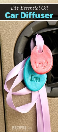 Aren't these little DIY Essential Oil Car Diffusers the cutest things in the…