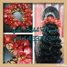 beautiful red flowers #bridal #hairstyle #poolajada