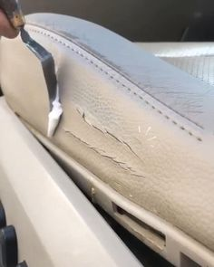 Leather Car Seats, Leather Car Seat Repair, Car Interior Decor, Muebles Shabby Chic, Star Wars Decor, Diy Crafts Hacks, Car Gadgets, Car Cleaning, Faux Leather Jackets