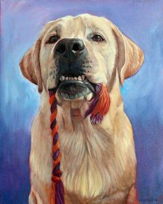 Yellow Lab Portrait by BFF Pet Paintings by David Kennett. Yellow Lab Paintings, Dog paintings, custom dog paintings, dog portrait artist.