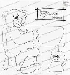 [转载]【图案教程】小被子抱枕贴布图案哦