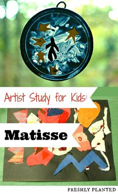 Our Homeschool Art Club did these easy projects inspired by Henri Matisse. Simple to set up, and perfect for groups! Henri Matisse, Matisse Art, Kindergarten Art, Preschool Art, Art Activities For Kids, Art For Kids, Activity Ideas, Famous Artists For Kids, Montessori Art