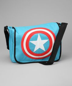 Awesome diaper bag for the All-American kick-ass dad! Captain America Shield Messenger Bag by Silver Buffalo on #zulily today!