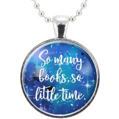 Book Lovers Necklace, So Many Books, So Little Time Pendant, Jewelry... (€13) ❤ liked on Polyvore featuring jewelry, necklaces, silver plated jewelry, pendant jewelry, ball chain necklace, pendant necklaces and silver plated necklace
