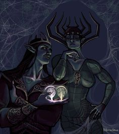 O Silmarillion, Morgoth, Luthien, Dark Elf, Dark Lord, First Art, Art Challenge, Middle Earth, Lord Of The Rings