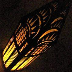 NYC Luminary Chrysler Building Cut Paper Lantern by