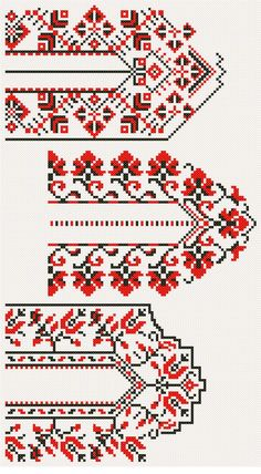 This Pin was discovered by Nil Palestinian Embroidery, Hungarian Embroidery, Folk Embroidery, Hand Embroidery Designs, Cross Stitch Embroidery, Embroidery Patterns, Knitting Patterns, Cross Stitch Borders, Cross Stitch Designs