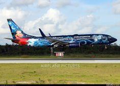 WestJet Airlines Boeing 737-800 C-GWSZ with Disney paint scheme