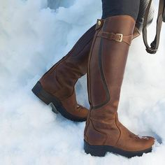Beauty and function combined into the perfect all purpose winter riding boot Slip On Boots, Tall Boots, Black Ankle Boots, Knee High Boots, Horse Riding Boots, Leather Riding Boots, Equestrian Boots, Equestrian Outfits, Striped Boots