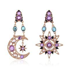 Bohemia Sun and Moon Earrings