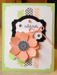 Catherine Loves Stamps: Bloom For You, Good Greetings, Deco Labels framelits, Sweet Sadie washi tape