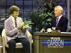 """David Frank and His Singing Parrot Poncho on """"The Tonight Show Starring Johnny Carson"""" - 1981"""