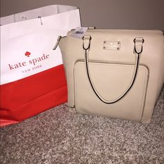"Just In⭐️Authentic Kate Spade Bag⭐️ NWT Authentic Kate Spade ""Baxter Street"" Tote ❤️ Color is Seedpearl which is a cream color has gold accents⭐️ Immaculate bag.. Very Roomy ⭐️ Perfect for Spring  kate spade Bags Totes"