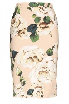 Dolce & Gabbana floral pencil skirt