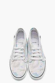 KENZO White cloud print Vans Edition Chukka Sneakers