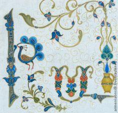 decorative bird-letters