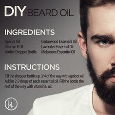 Father's Day is coming up very soon, so here's a fun DIY for the dad in your life! This Beard Oil helps to moisturize and tame the beard, while providing many benefits. Melaleuca oil is renowned for its cleansing and rejuvenating benefits on the skin. Homemade Beard Oil, Diy Beard Oil, Best Beard Oil, Melaleuca Essential Oil, Cedarwood Essential Oil, Essential Oils, Doterra, Beard Oil Ingredients, Bart Design