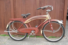 1939 Hiawatha No Nose - Picture - Dave's Vintage Bicycles Old Bicycle, Cruiser Bicycle, Old Bikes, Vintage Cycles, Vintage Bikes, Retro, Antique Bicycles, Cycling Bikes, Cycling Art