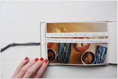Easy, cute memory keeping.. 4x6 album with stickers or strips with the journaling across your images...