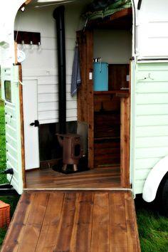 Horsebox Hideaway - converted glamping trailer