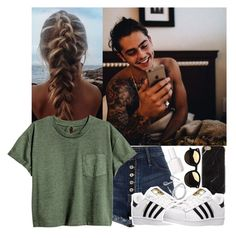 """""""Should I make a story about nate? I haven't done one in a while."""" by lexiii-caniff ❤ liked on Polyvore featuring River Island, adidas and Essie"""