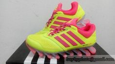 Women's Adidas Springblade Drive Running Shoes Yellow/Pink only US$98.00 - follow me to pick up couopons.