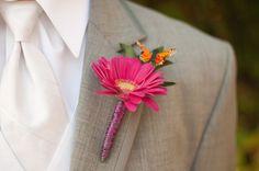 orange pink vibrant butterfly wedding (54)
