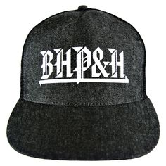 BHPH O.G. Denim Trucker Hat #bhph #beverlyhillspimpsandhos #beverlyhillspimpsandhoes #pimpsandhos #pimpsandhoes #beverlyhills #hat #trucker #truckerhat #headwear #cap #baseballcap #grey #oldenglish #streetwear #clothing #snapback #fitted #fashion #la #losangeles #denim
