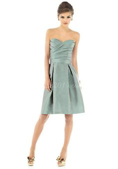 taffeta sleeveless pleated bridesmaid ~ $109.00 #DD482715167