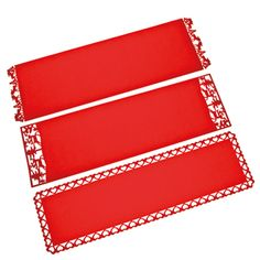 Red felt tablerunner, 35x120 cm, 3 ass 4 euro