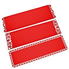 Red felt tablerunner, 35x120 cm, 3 ass 4 euro