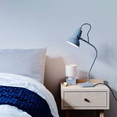 There's a lot of Anglepoise® heritage packed into the 20 inches of metal and cable that make up the Original Mini 1227™ fixed arm table lamp. The classic shade is instantly recognizable, while our new pyramid-shaped base, with its highly practical integral switch, breaks new ground without losing any of the original Anglepoise® spirit. Brass Table Lamps, Ceramic Table Lamps, Margaret Howell, Anglepoise Lamp, Ceramic Wall Lights, New Bedroom Design, Design Bestseller, Danish Design, Floating Nightstand