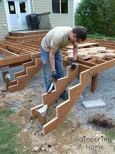 Joists & Blocking & Railing Posts 13 #outdoor #deck #ideas