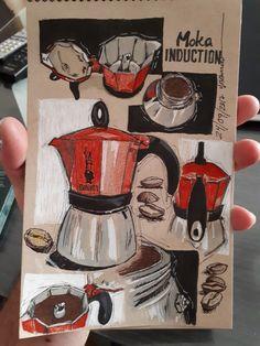 Otra cafetera más.... #drawing #art #callygrafy #illustration #painting #creative #artwork #café #Bialetti #cafetera #coffeemaker